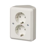 2 gang schuko socket outlet corner installation ip21 abb oy 2 gang schuko socket outlet corner installation ip21
